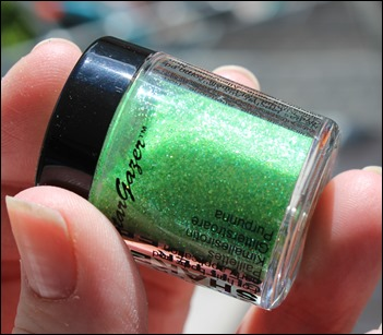 StarGazer Glitter Shaker Swatches UV Green