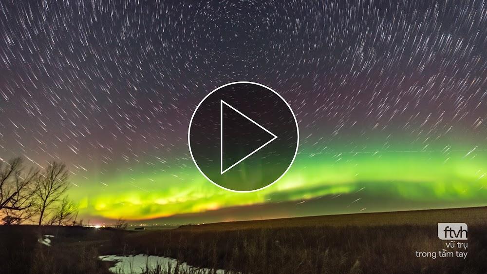 Video timelapse: Cực quang rực rỡ đêm Thứ sáu ngày 13