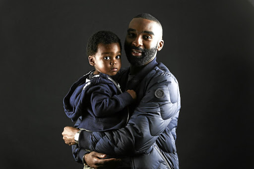 Rapper Riky Rick with his son Maik.