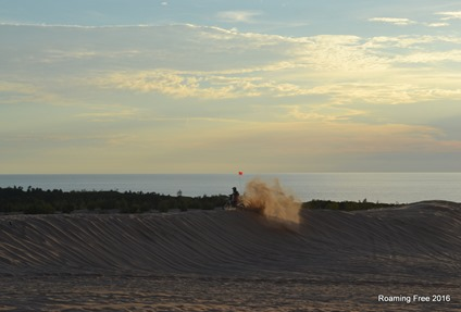 The wind last week really made the dunes interesting!