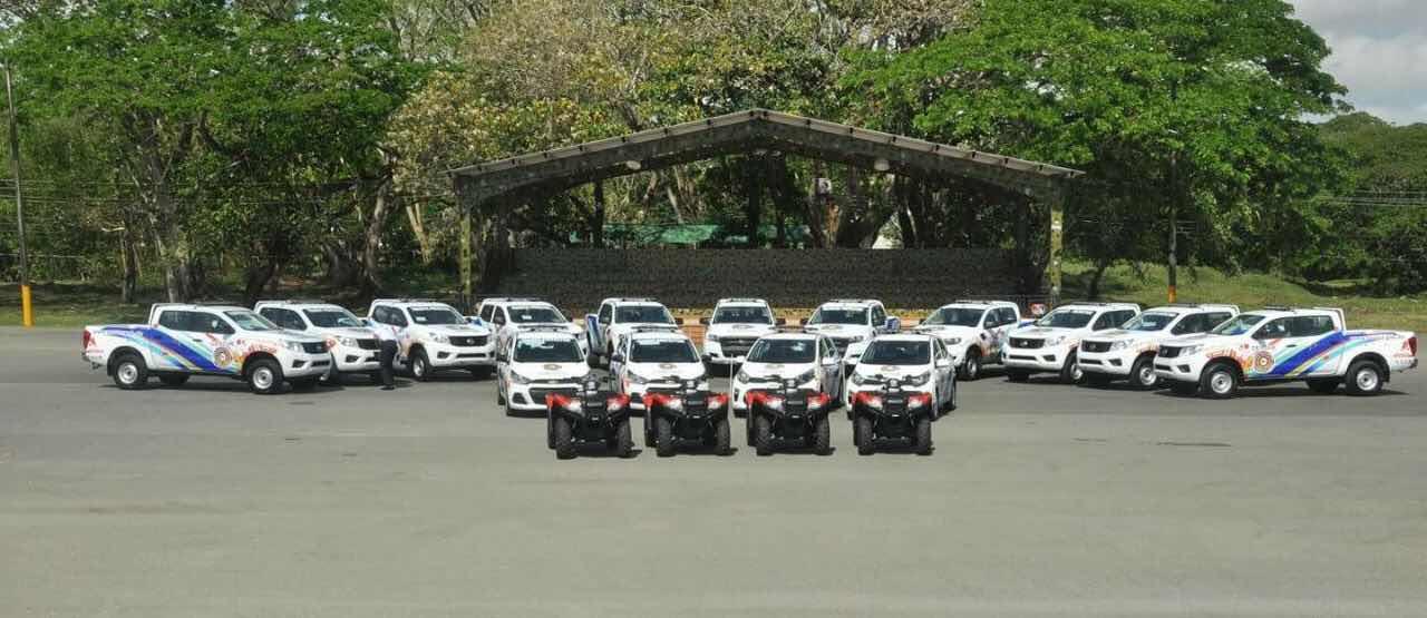 CESTUR adquiere flotilla de nuevas unidades vehiculares para incrementar el patrullaje en las zonas turísticas del país.