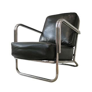 Chrome and Vinyl Lounge Chair