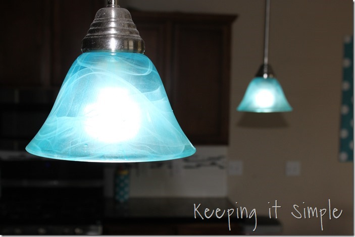 Turquoise Pendant Light How To Dye A Light