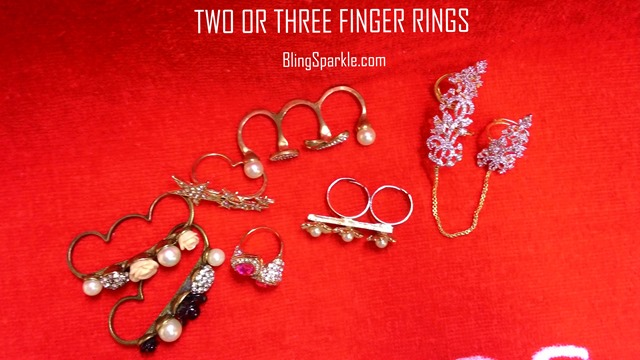 two or three finger rings