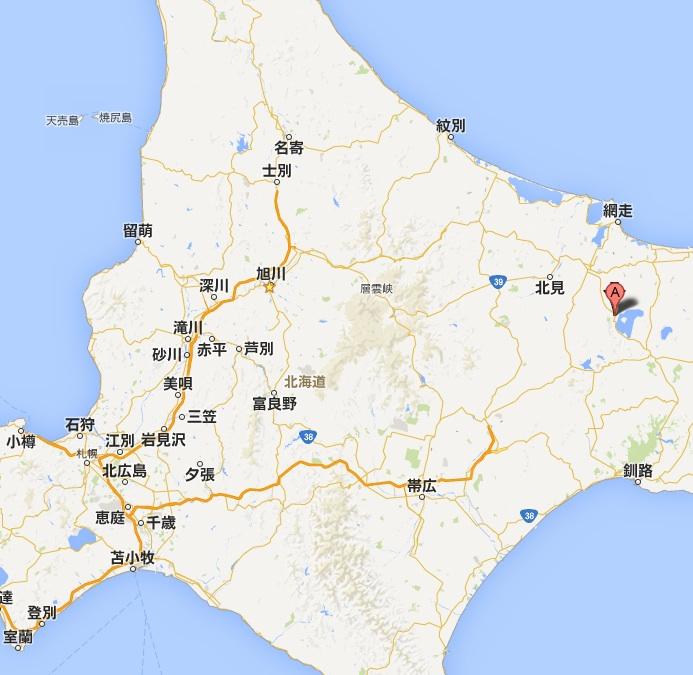 美幌峠レストハウス・地図