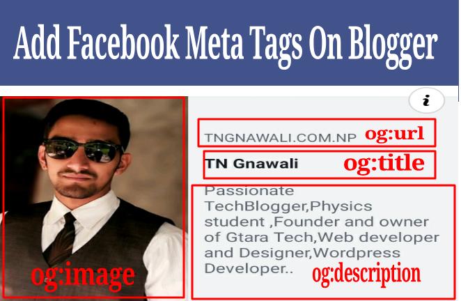Add Facebook Open Graph Meta Tag To Blogger/Wordpress