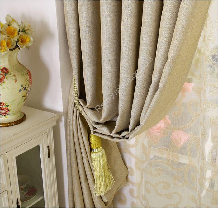 Rèm cửa đẹp hà nội một màu vàng mịn 6