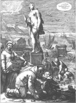 Jan Saenredam After Hendrick Goltzius, Emblems Related To Alchemy