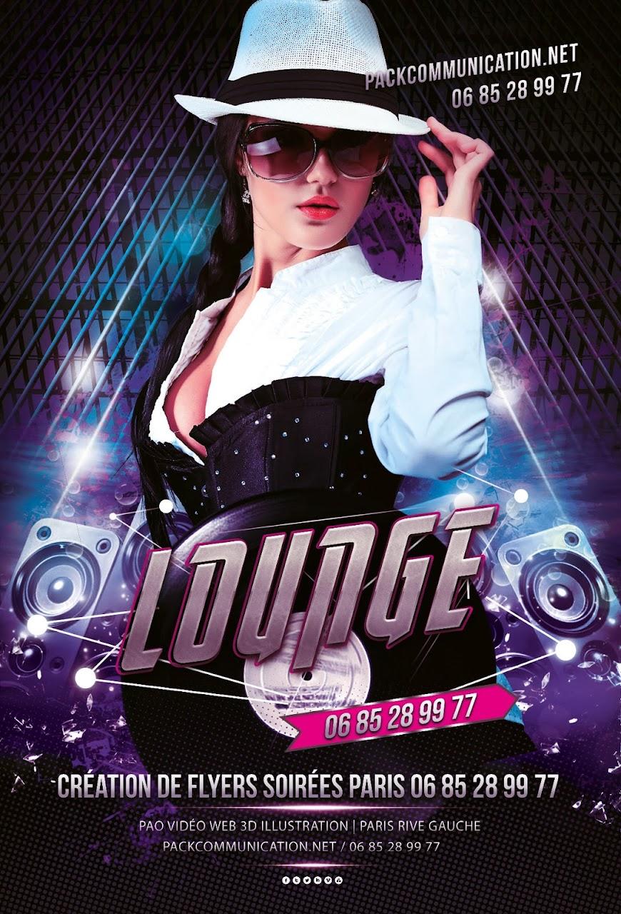 création flyers soirées thème Lounge