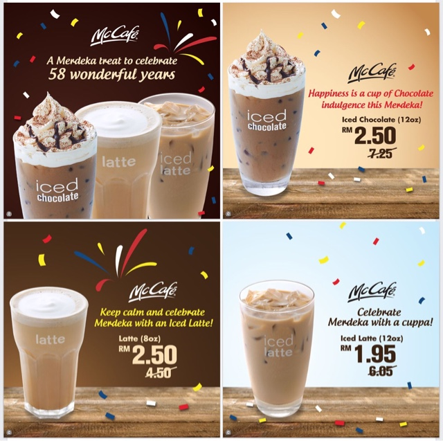 Cheapest Iced Chocolate, Hot/Iced Latte At McDonald
