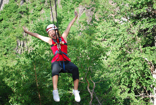 Ziplining fun in Corner Brook, Newfoundland, Canada.
