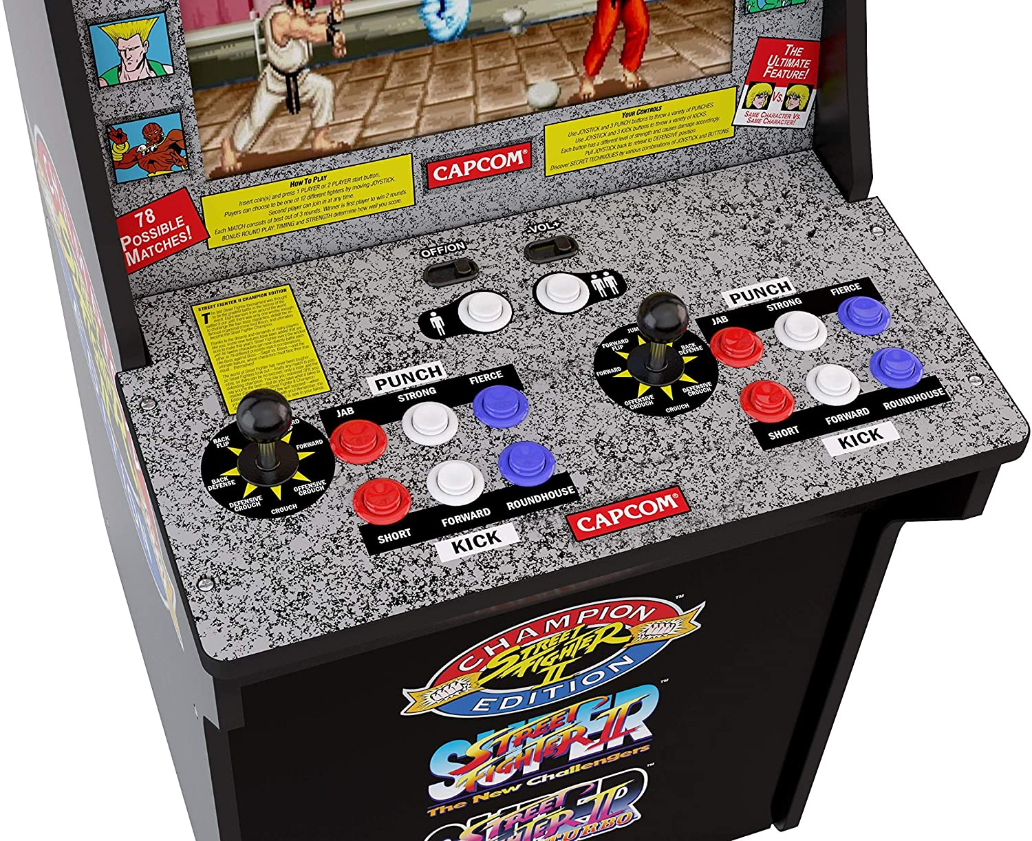 Mando Recreativa Arcade Retro Street Fighter de Arcade 1Up