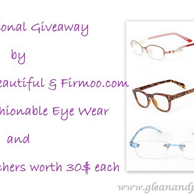 Sagaciously Beautiful: Sagaciously Beautiful and Firmoo Eye Wear ~ International Give Away