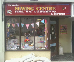 Small sewing shop frontage