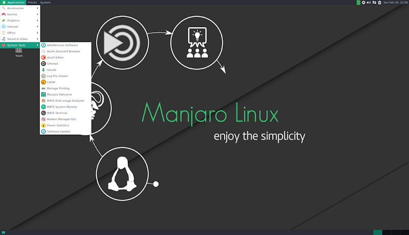 manjaro 16.10 mate screenshot 3