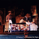 Donna Newton, Cynde Schwartz and Christopher Foster in LOOK HOMEWARD, ANGEL (R) - March 1994.  Property of The Schenectady Civic Players Theater Archive.