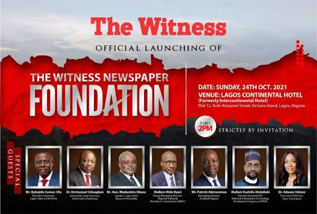 Sanwo-Olu, Uduaghan, Obasa, Kyari, others for The Witness Newspaper Foundation launch ~Omonaijablog