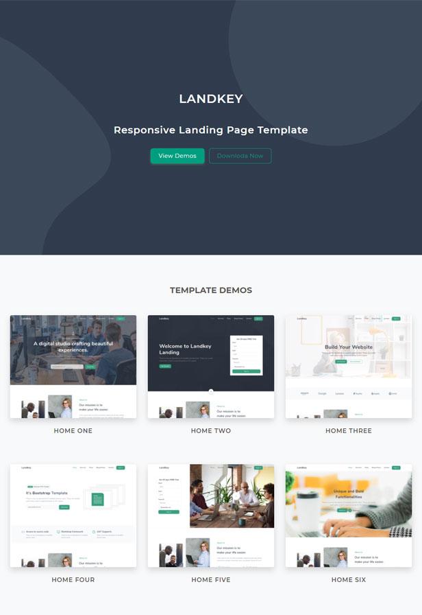 Landkey - A Responsive Creative Landing Page Template - 1