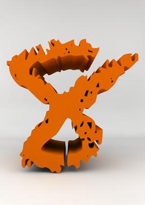 lettre 3D chiffron de craie orange - 8 - images libres de droit