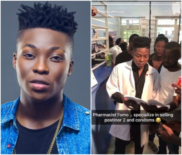 Reekado Banks On Set Of His First Movie Selling Postinor 2 And Condoms (Photos)