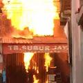 Diduga Korsleting Listrik, Ruko Bahan Bangunan dan Gas Elpiji Milik H. Dedi Ludes Terbakar, di Tanjungsiang Subang