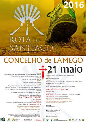 Programa – Rota de Santiago – Lamego – 21 de Maio de 2016