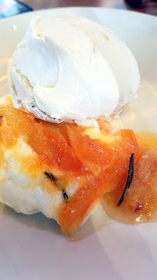 Dessert at Lincoln Restaurant, here Brutta Ma Buoni with orange, grapefruit, creme fraiche