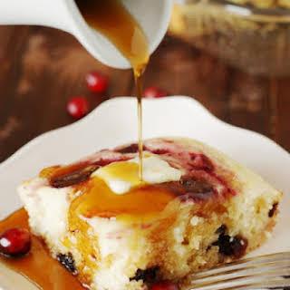 Cranberry Baked Buttermilk Pancakes.