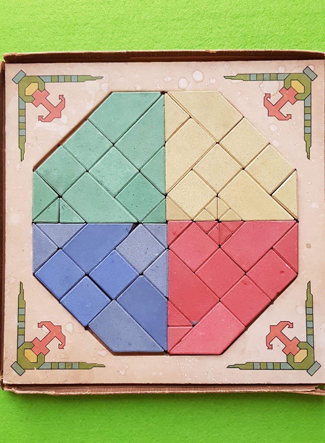 Anker Vexier-Mosaik Nr. 3 von 1914/15 mit zweifarbigen Steinen
