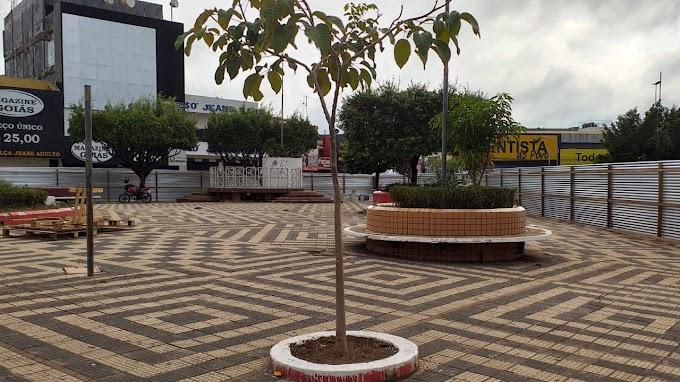 Praça do Rotary, em Tucuruí começa a ser reformada