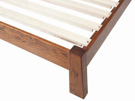 Teton Platform Bed in Mahogany Oak