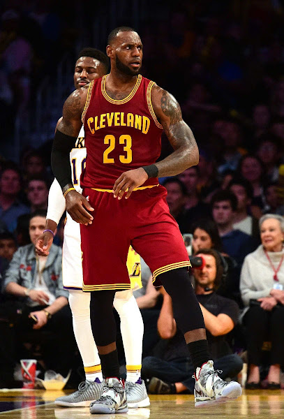 King James Debuts Special Camo Nike LeBron 14 in Hollywood