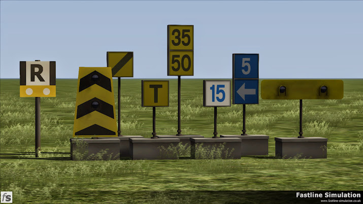 Fastline Simulation: A selection from our Battery TSR signs expansion.