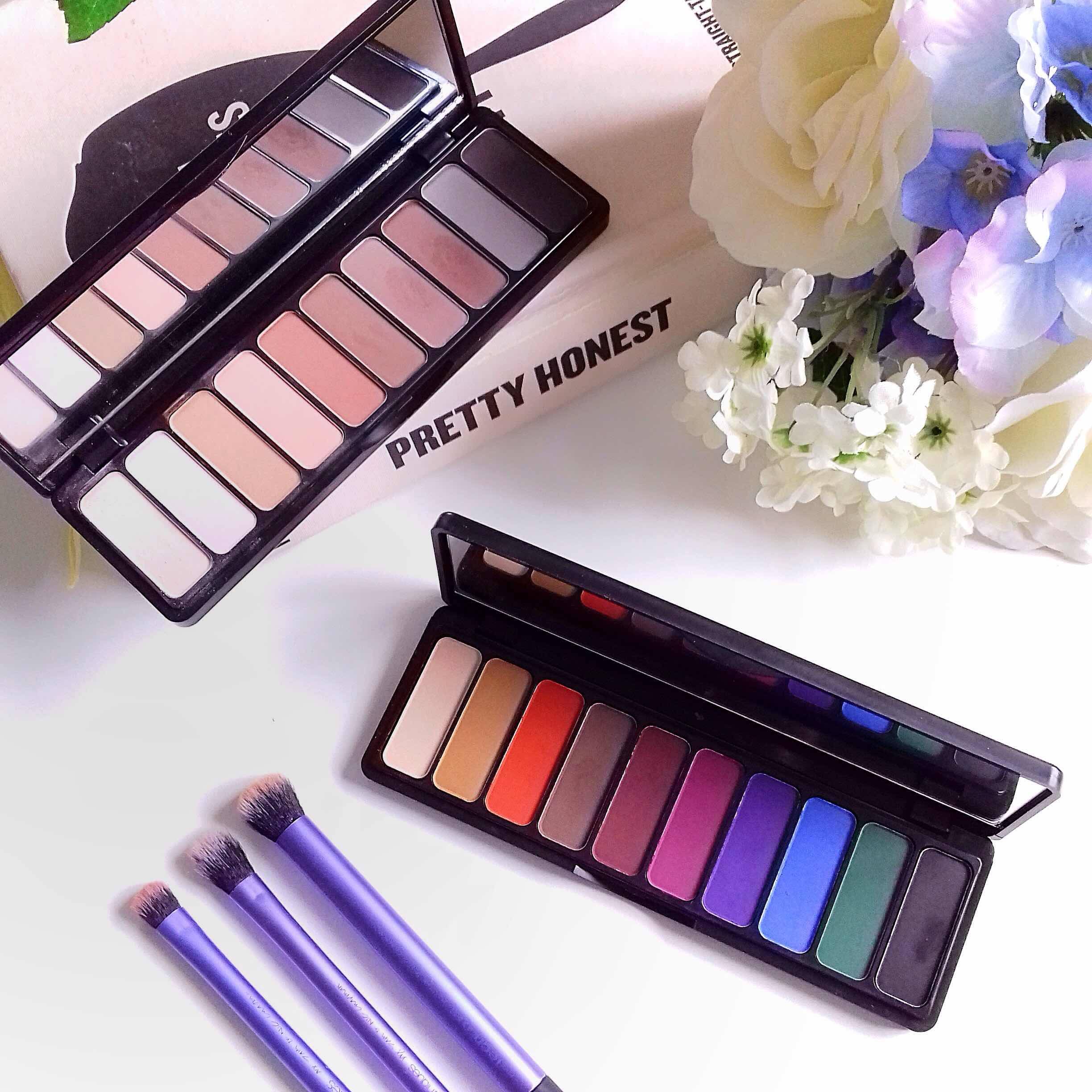 elf, mad for mattes, eyeshadow palettes, mattes, review, sheer gloss, makeup, eyeshadow