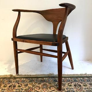 Organic Modernism Hopper Walnut Chair #1