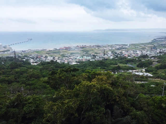 The view from the Nakagusuku Castle Ruins in Okinawa