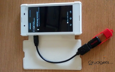USB OTG feature in Xperia e3 review