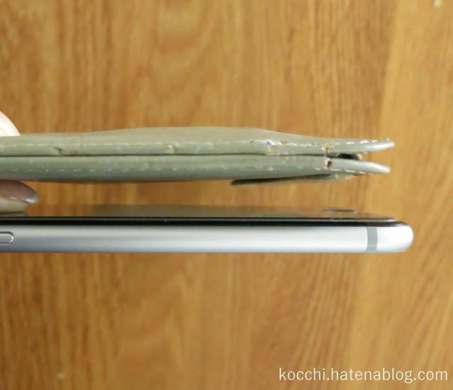 【初代専用財布】超薄型-iPhoneと薄さの比較