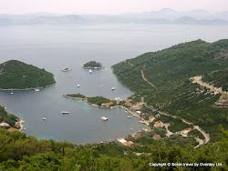 Uroki wyspy Mljet - widok na miejscowość Prožurska Luka