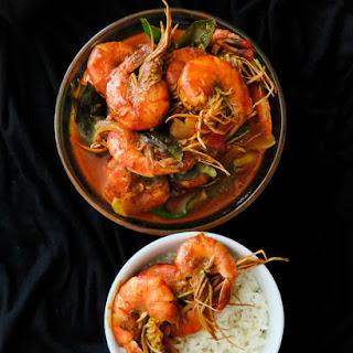 Srilankan prawn curry cooked in Coconut milk