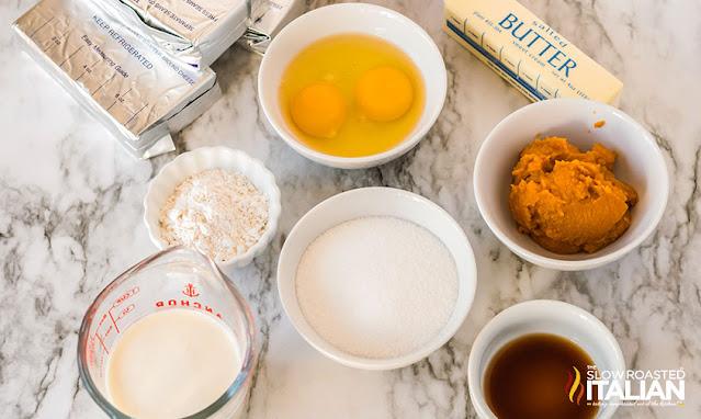 ingredients new york cheesecake (pumpkin)
