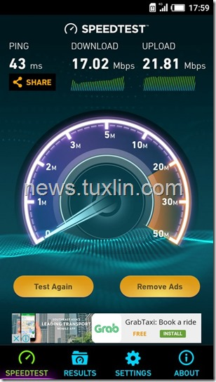 Benchmark Infinix Hot 3 X553 4G LTE Speedtest