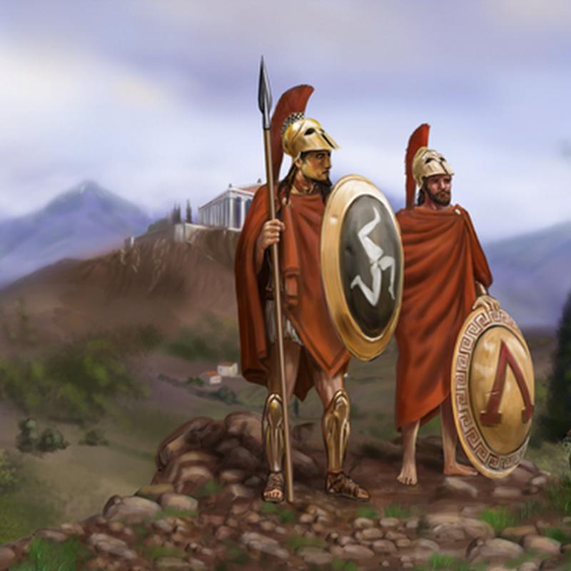 Guìa de 0 A.D. excelente juego de estrategia para Linux gratuito y open source:: los Helenos.