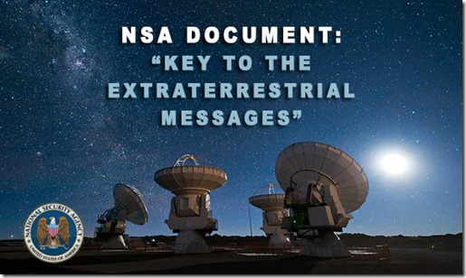National Security Agency alien contact