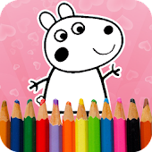 Pepy Pig Painting Coloring