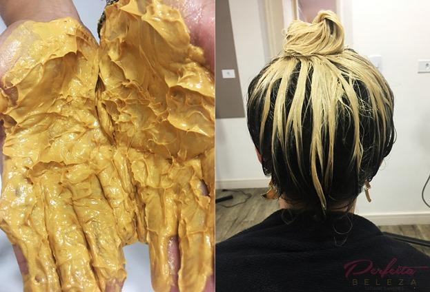 máscara de ouro para o cabelo isa hair