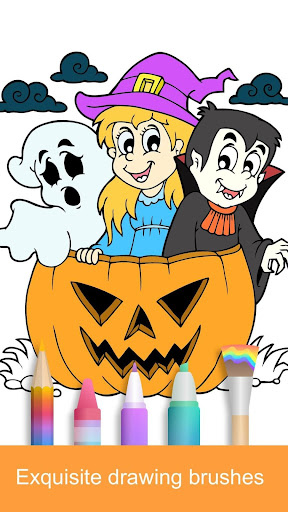 2021 Halloween Coloring Books  screenshots 1