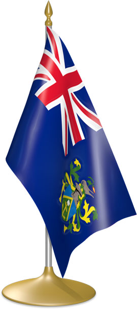 Pitcairn Island table flags - desk flags