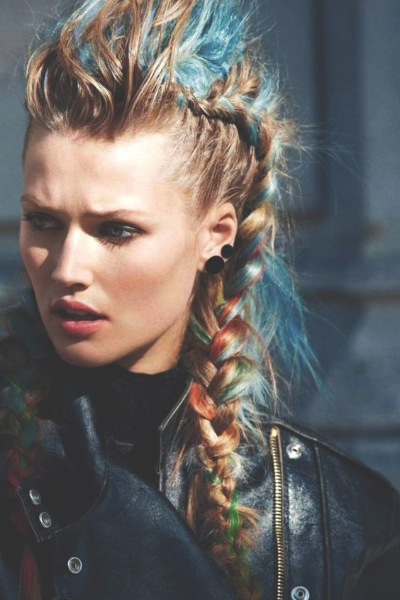 Mohawk Hairstyles ideas: Braided mohawk is the best 2018 9