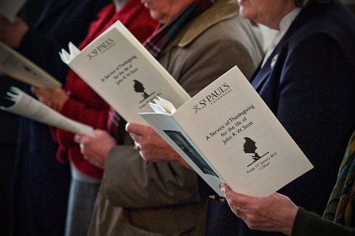 Service books at Memorial Service